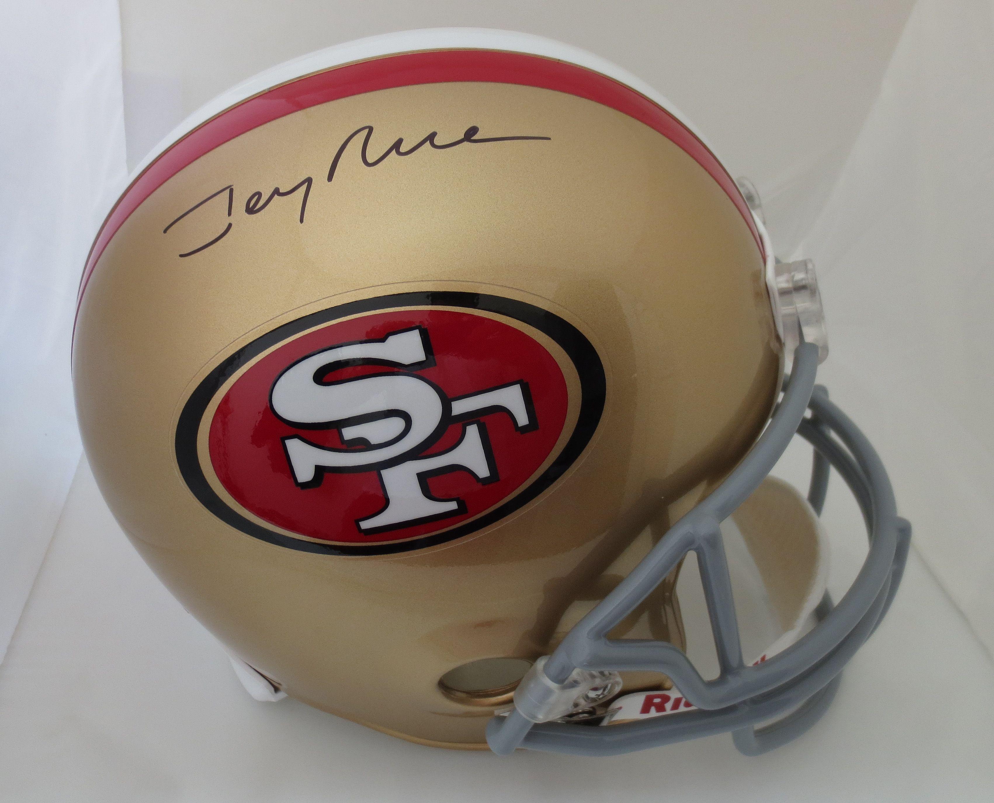 c1a99693e Jerry Rice Autographed San Francisco 49ers Red Football Jersey - Rice HOLO Jerry  Rice Autographed Sa signed autographed