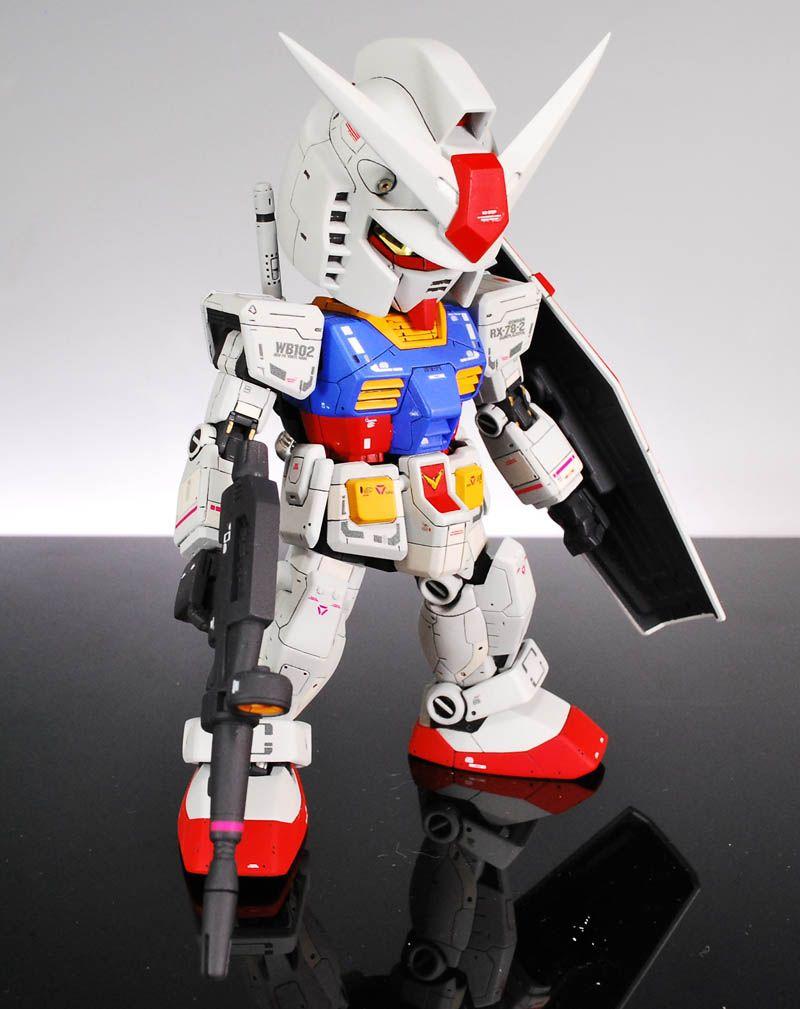 SD RX-78-2 Gundam - Custom Build   Modeled by Ganprakan         CLICK HERE TO VIEW FULL POST...