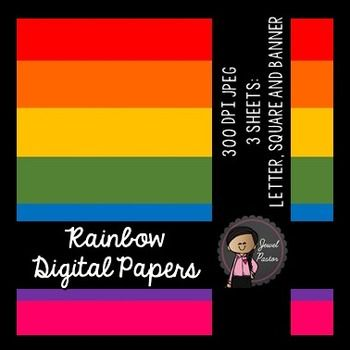 Free Rainbow Digital Papers   Product Description:  Size: Letter, square and banner File Format: 300 dpi JPEG  ***************************************************************************** Please see my other clip art bundle and fonts: Winter Kiddies Bundle (Winter Kids Clip Art)Valentine Kiddies Bundle (Valentines Kids Clip Art)FONT FOR COMMERCIAL USE - Jewel Pastor JoeyFONT FOR COMMERCIAL USE - Jewel Pastor JoyFONT FOR COMMERCIAL USE - Jewel Pastor Scribble  Thank you and enjoy!