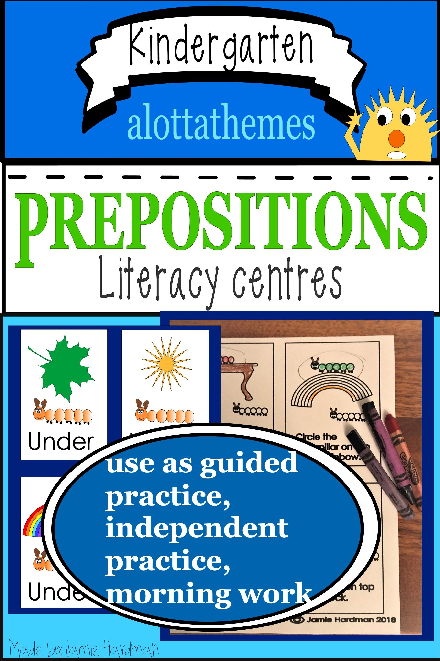 Beginning Preposition Activities For Kindergarten Grade 1