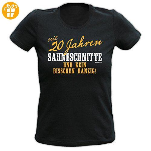 Girlie Shirt 20 Jahre Sahneschnitte Girls T-Shirt Geburtstag Geschenk geil  bedruckt Goodman Design (