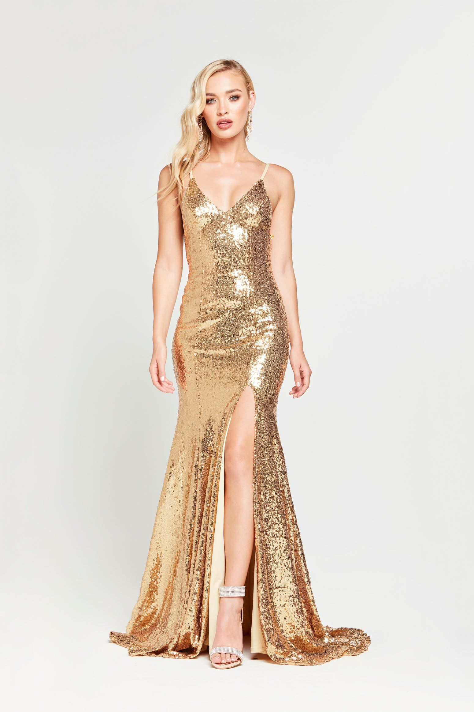 302061c665 A&N Kara Sequin Gown - Liquid Gold in 2019 | prom✨ | Sequin gown ...
