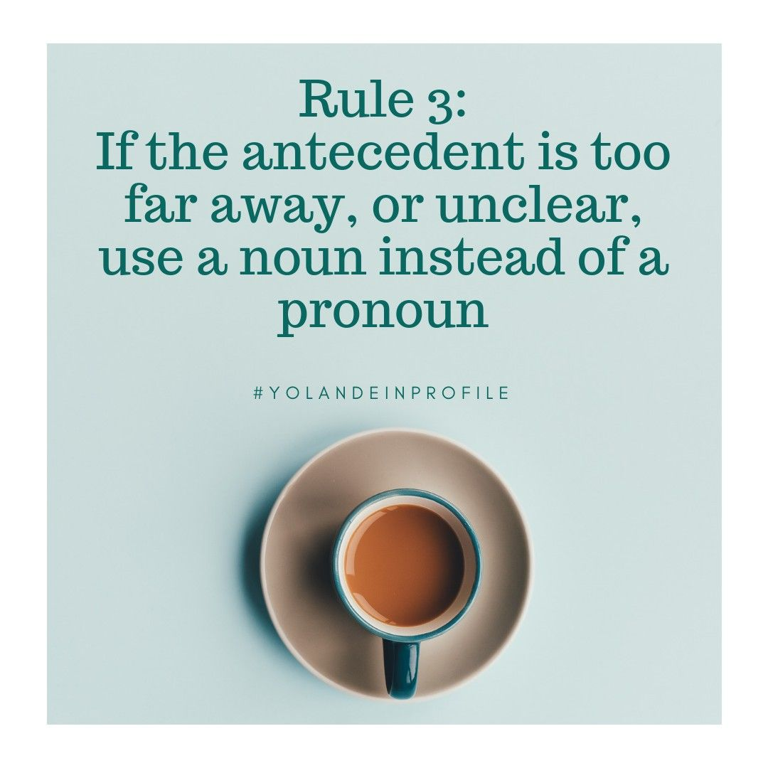 Rule 3 3 On Pronoun Antecedent Agreement