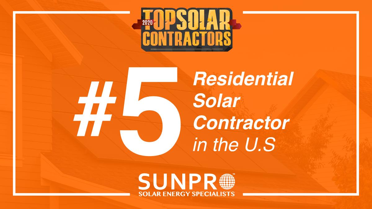 Sunpro Solar Ranked Top 5 Residential Solar Company In Us In 2020 Residential Solar Solar Companies Solar