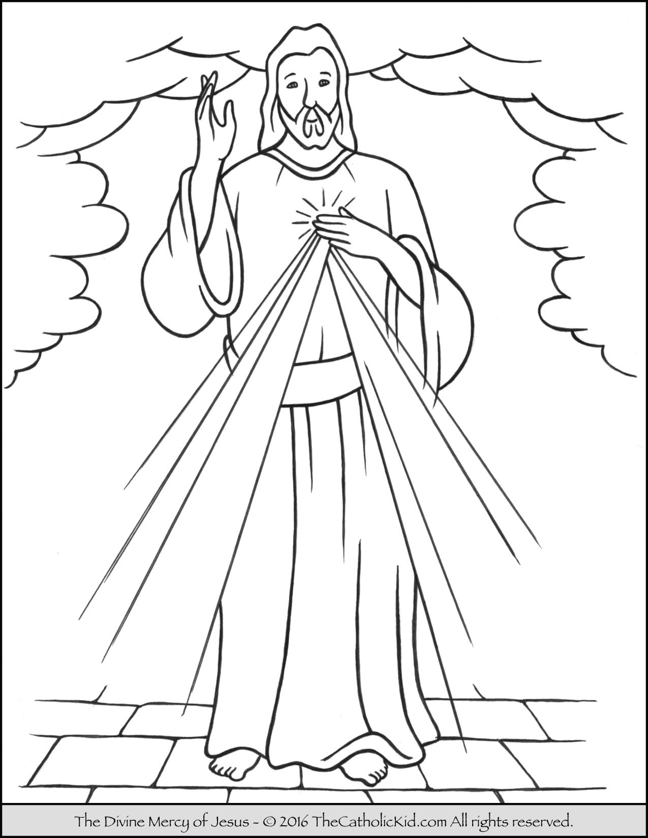 Divine Mercy Sunday Coloring Page Divine Mercy Coloring Pages