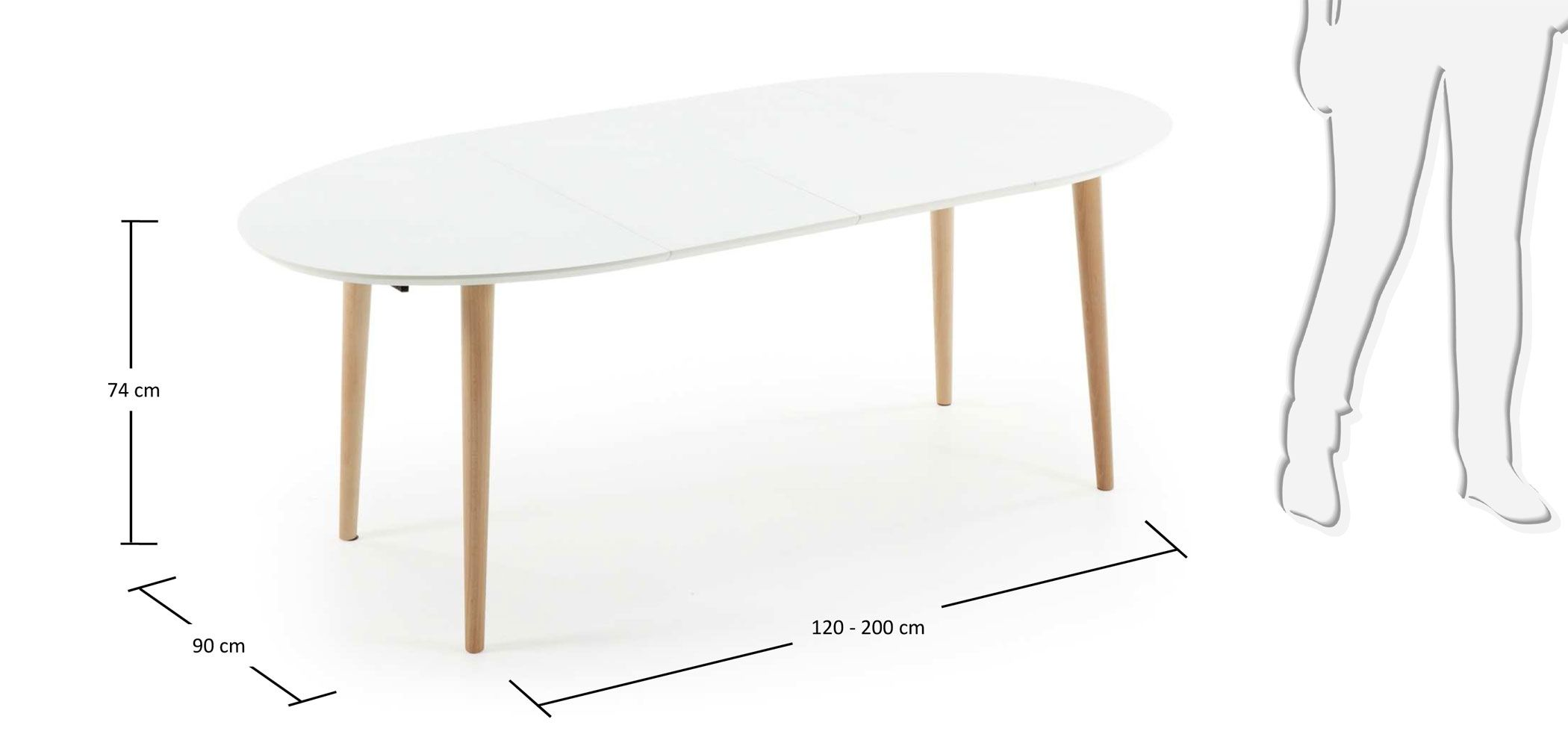 Mesa de comedor ovalada extensible nórdica Oqui in 2018 | muebles ...