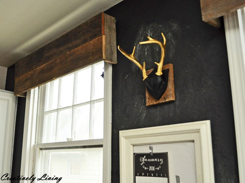 Office Wall Antlers --Creatively Living Blog
