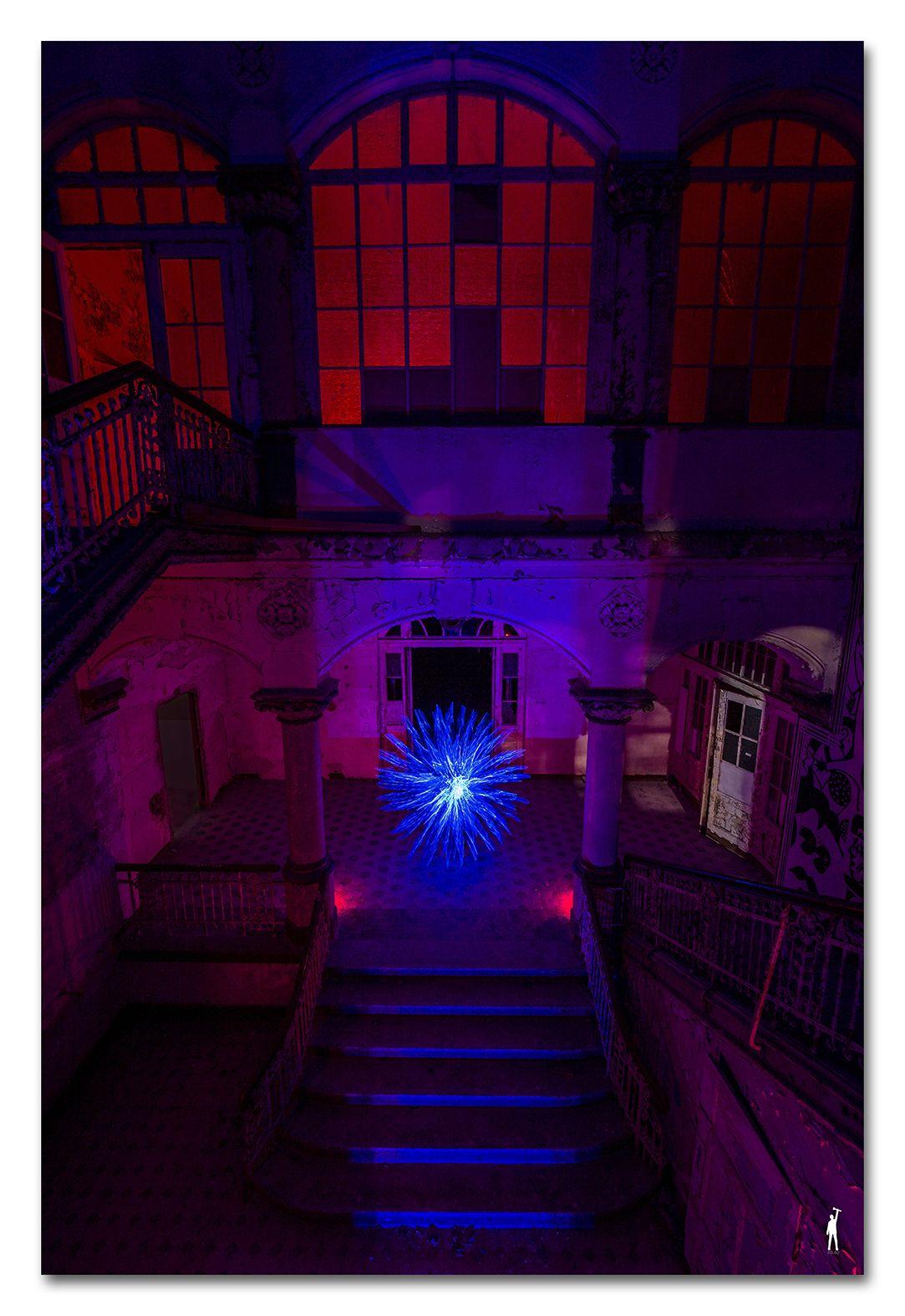 Zolaq Blue Crystal Blaue Kristalle Lichtkunstler Beelitz