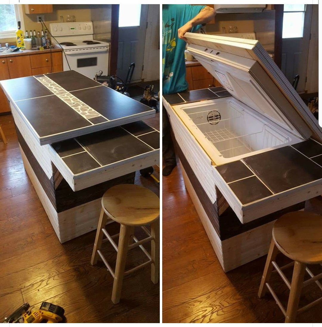 6 Ft Kitchen Island: Deep Freezer Kitchen Island
