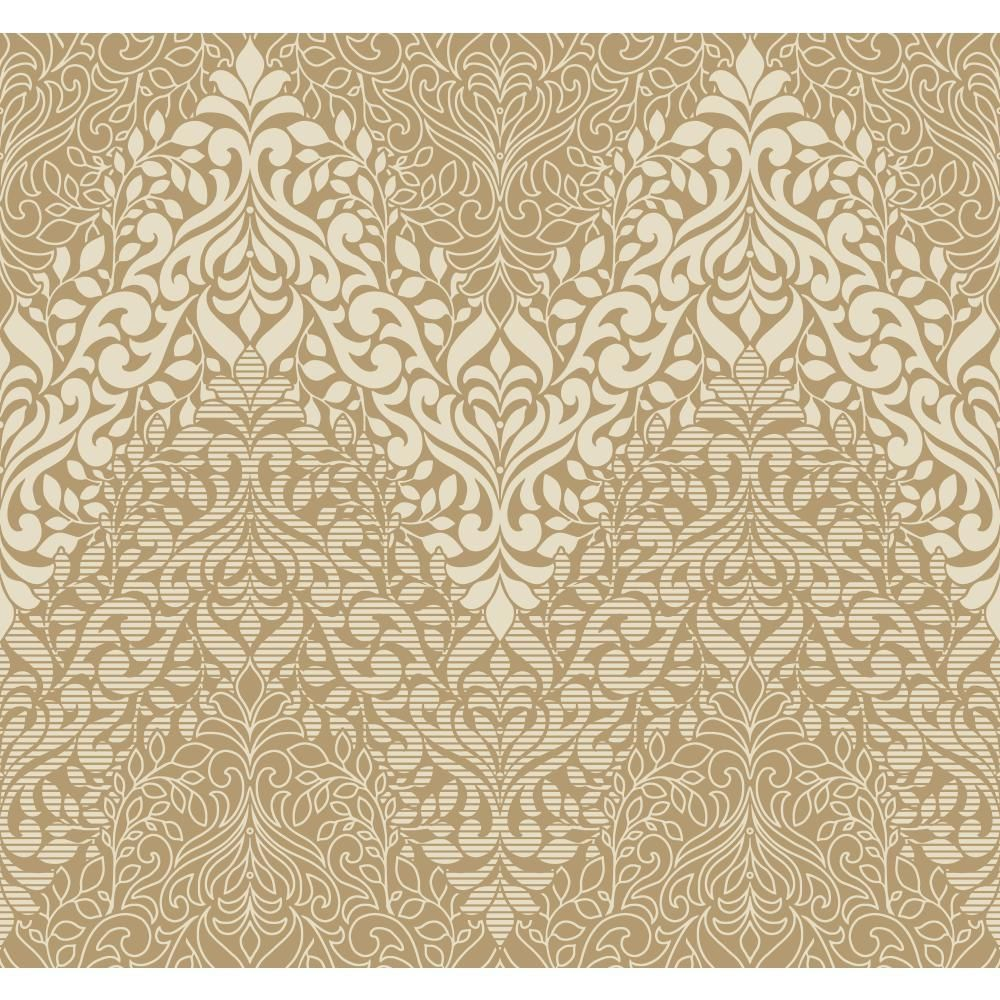 York Wallcoverings Candice Olson Decadence Folklore Wallpaper Metallic Gold Off White The Savvy Decorator Folklore Wallpaper Covering Wallpaper Wallpaper