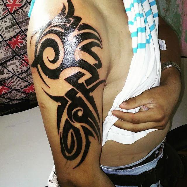 Cucho Tattoo Tatuaje Tribal Para Hombre En El Brazo Y Hombro