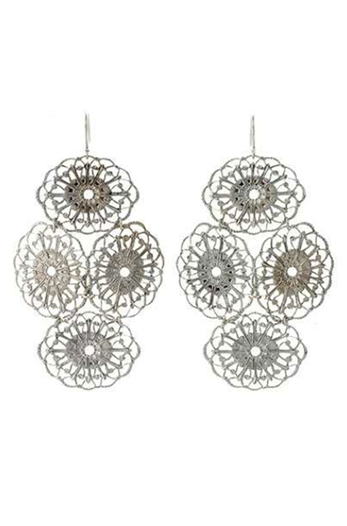 Silver Chandelier Earrings by Janna Conner