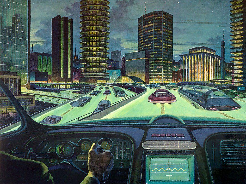 Retro Future City 1024x768 Pixels