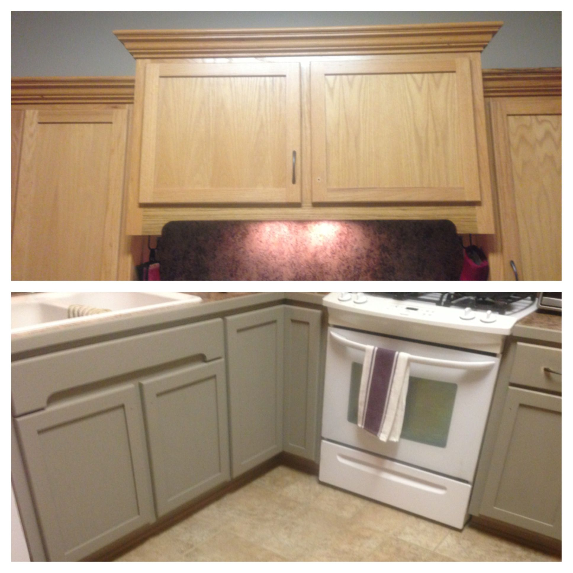 In The Process Of Updating My Kitchen Cabinets With Annie Sloan S French Linen Chalk Paint Kitchen Cabinets Annie Sloan Kitchen Cabinets Kitchen Design
