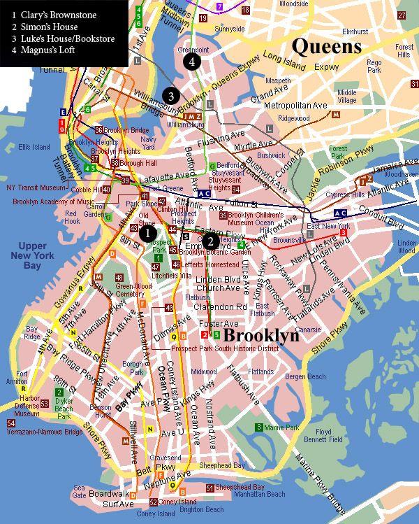 Pinned by Clary | Landkarte, New jersey und Brooklyn