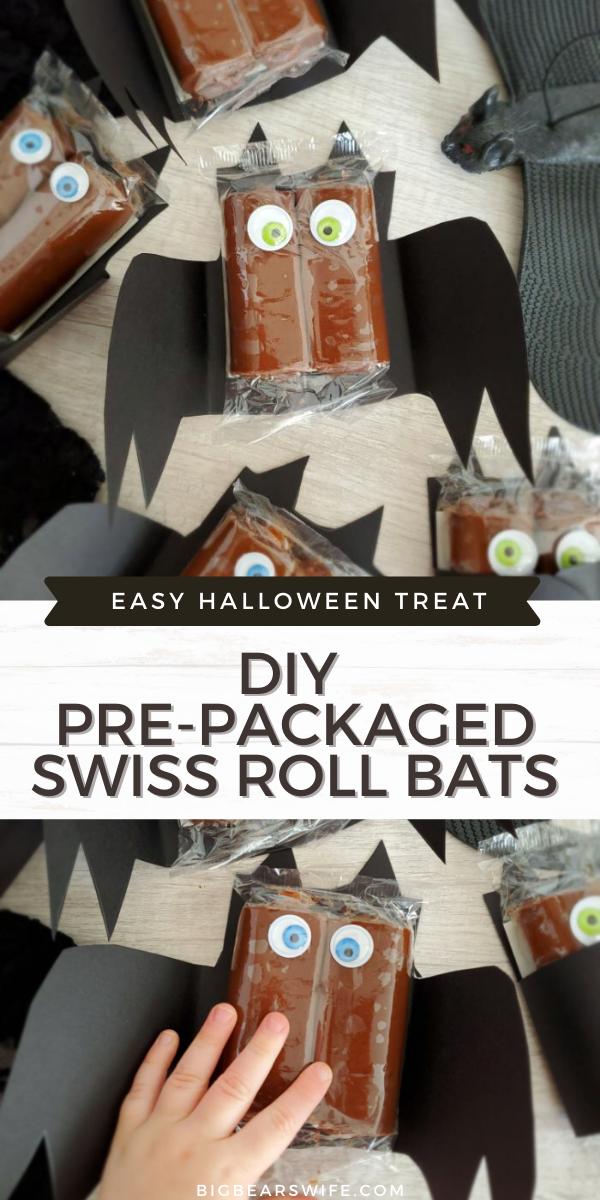 Swiss Halloween 2020 DIY Pre Packaged Swiss Roll Bats   Big Bear's Wife | Recipe in