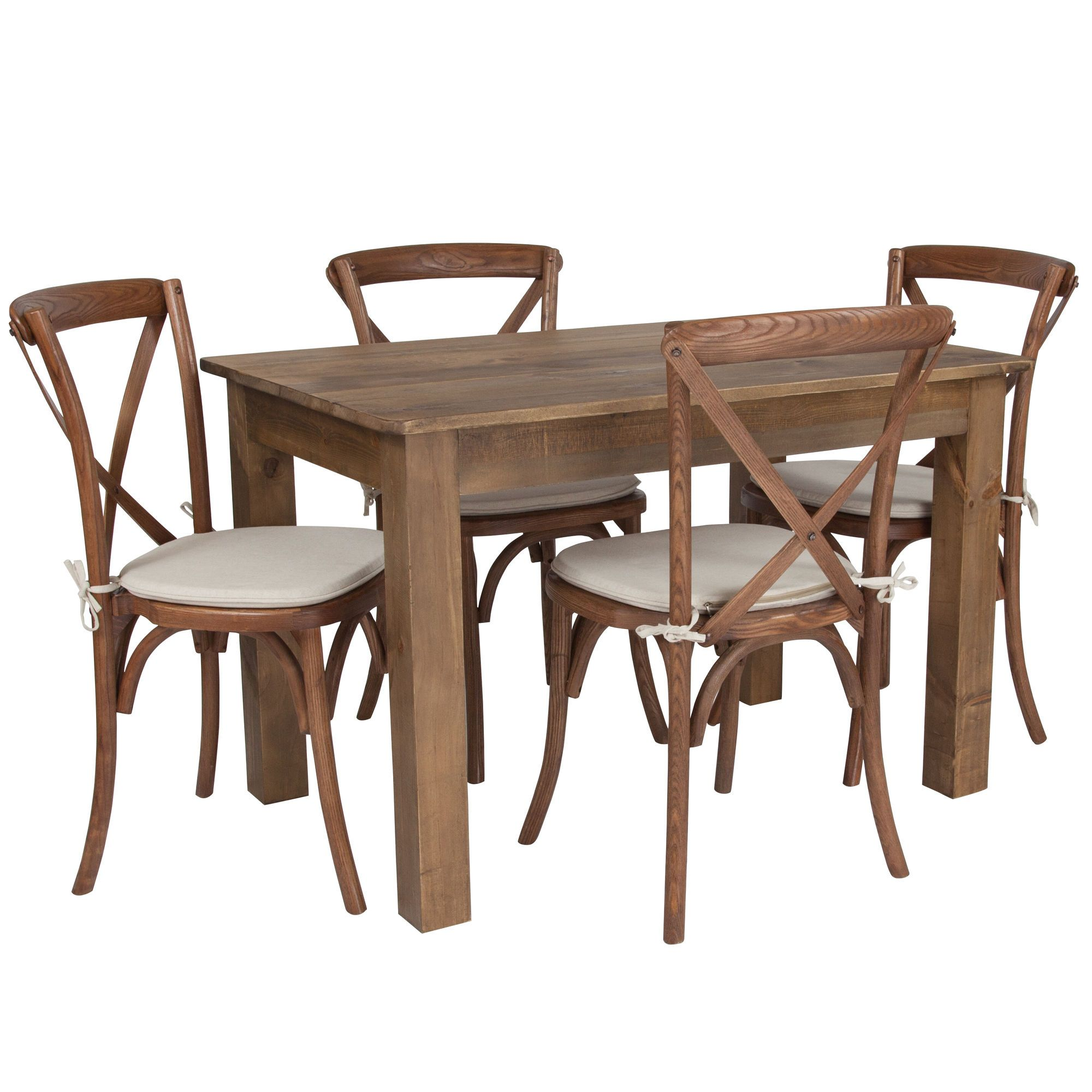black farmhouse dining chairs set of 4