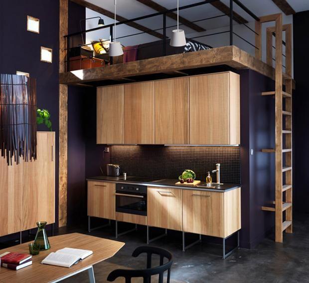 Einrichtungsbeispiele zur Ikea-Küche  - ikea kuche schwarz weiss