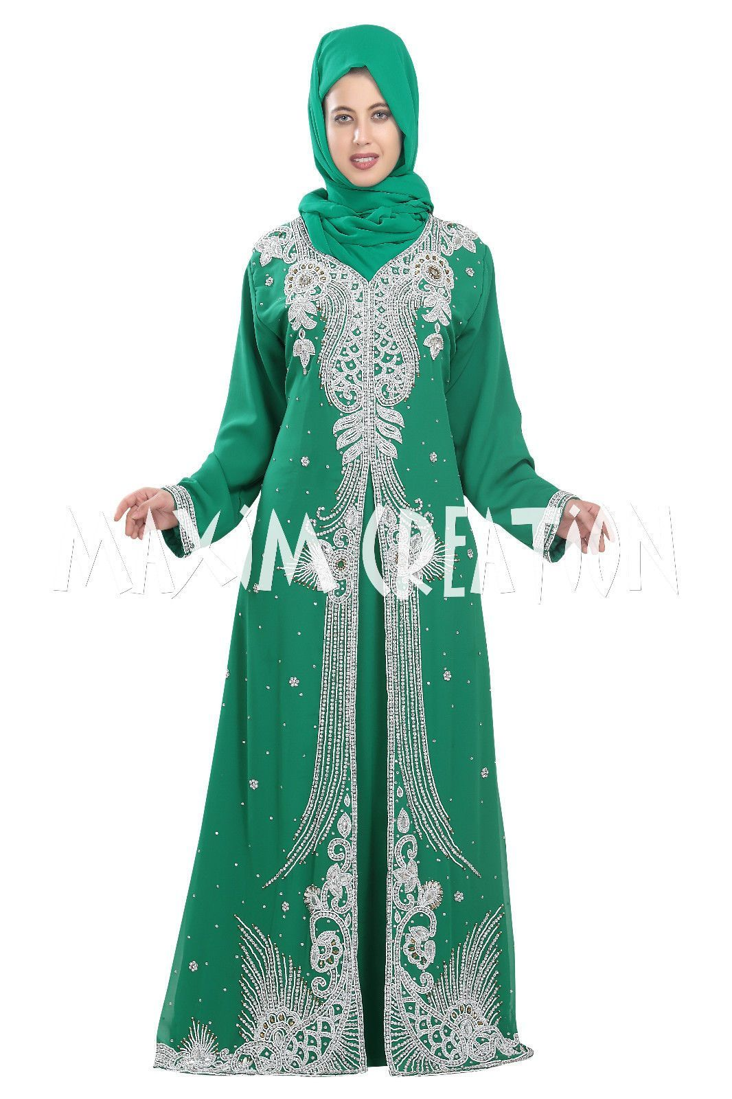 Moroccan Jilbab Fancy Kaftan Wedding Gown Takshita For Women Dress ...