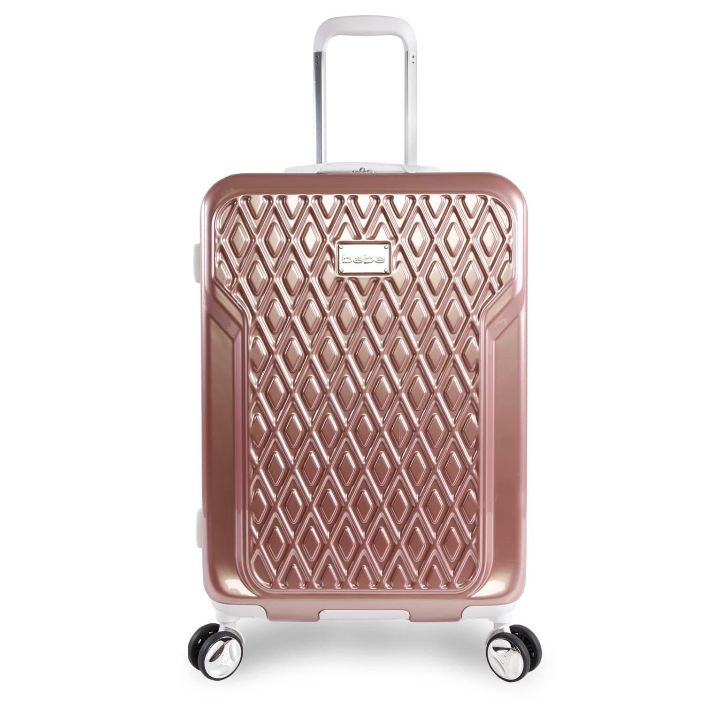 5db87f243 bebe Stella Rose Gold 21-inch Carry On Hardside 8-Wheel Spinner Suitcase (Rose  Gold), Pink