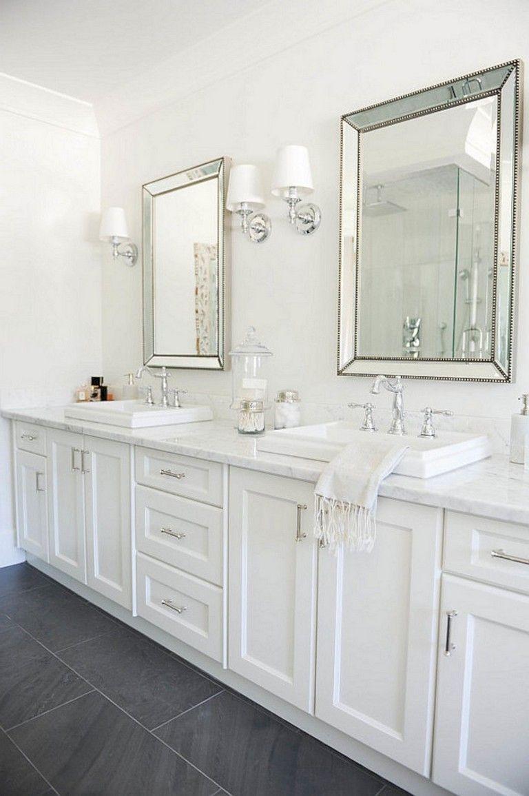 55 Luxury White Bathroom Vanity Ideas Bathroomideas Bathroomdecor Bathroomremodeling Luxur Hampton Style Bathrooms Hampton Style Bathroom Bathroom Styling