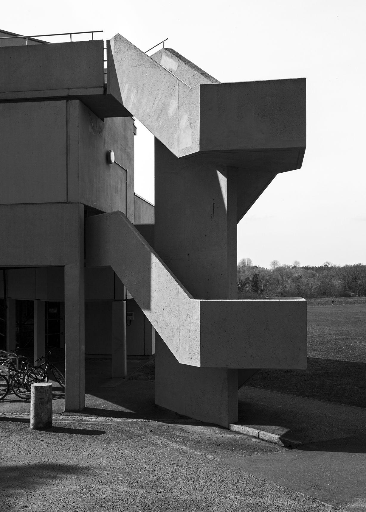 University of East Anglia 6, Norwich, Denys Lasdun, 1962-68  Simon Phipps http://new-brutalism.tumblr.com