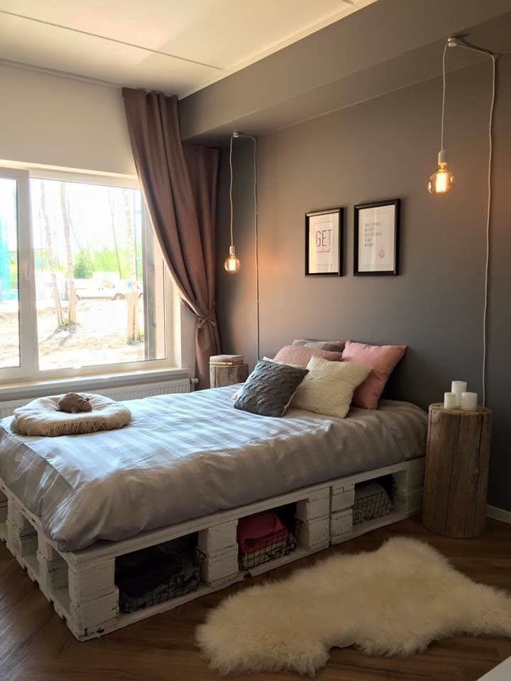 Pin by Do With Pallete on Creative Pallet Projects ... on Pallet Bed Room  id=76085