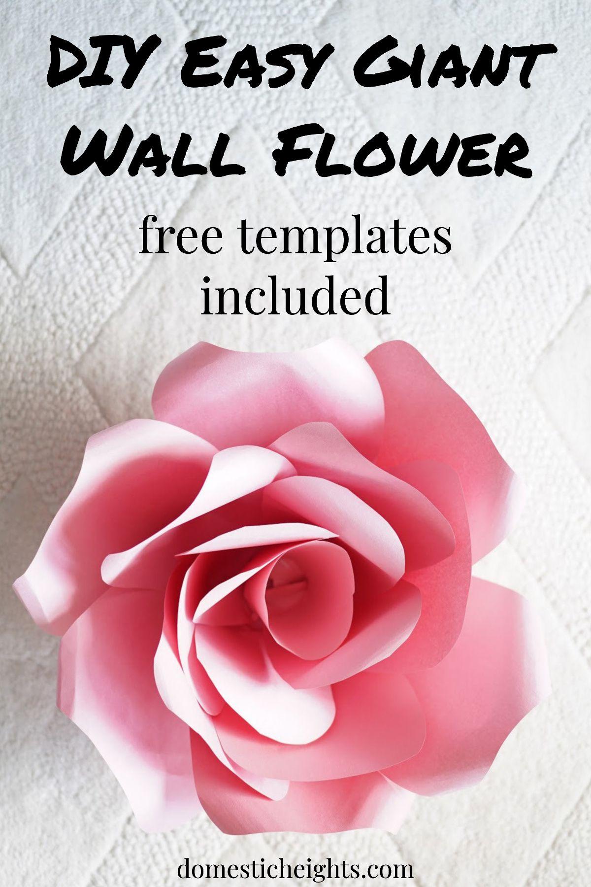 DIY Easy Giant Wall Flower #largepaperflowers