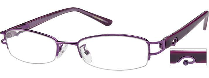 Order online, women purple half rim mixed materials rectangle eyeglass frames model #731417. Visit Zenni Optical today to browse our collection of glasses and sunglasses.