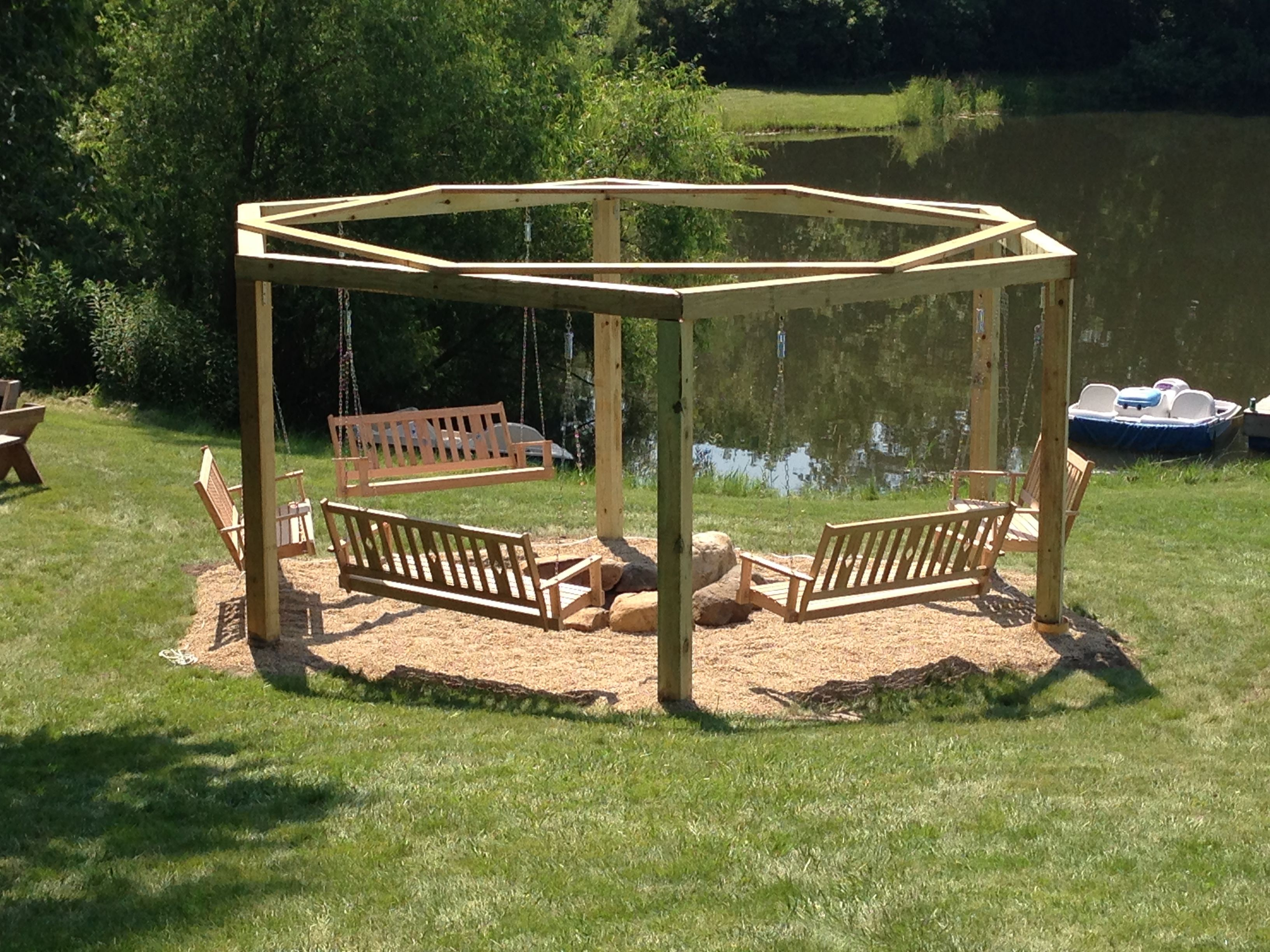 swinging firepit favorite places u0026 spaces pinterest backyard