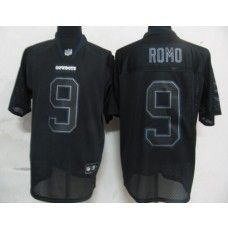 Cowboys  9 Tony Romo Lights Out Black Stitched NFL Jersey  fe5e07c0c