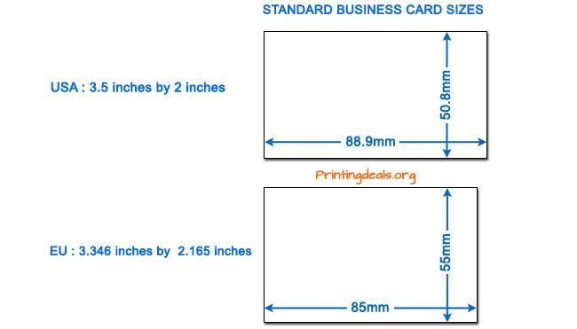 Vilken Storlek Ar En Standard Visitkort Visitkort