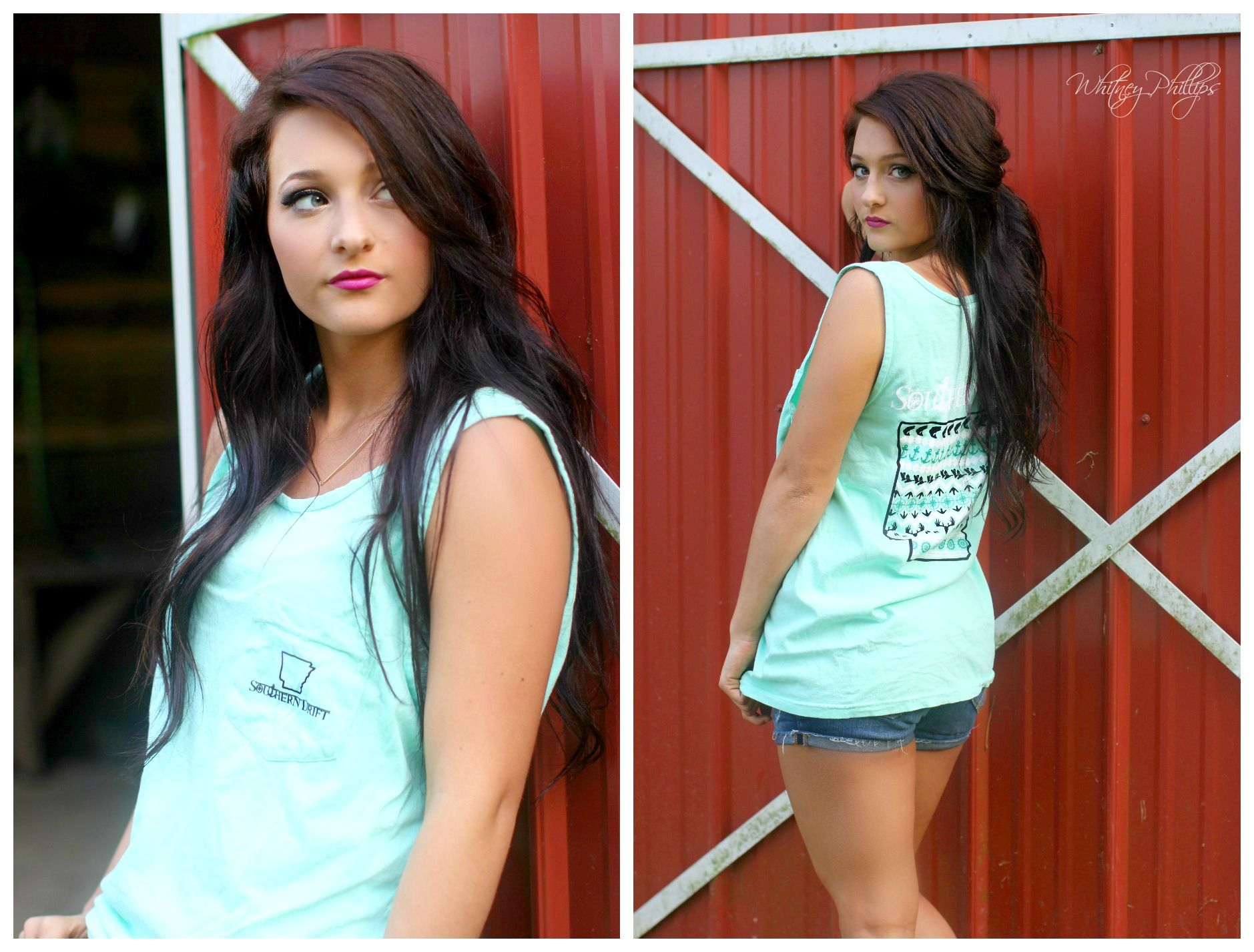 """Southern Drift """"Arkansas"""" State Tank.   Southern Drift is an apparel company based in Arkansas, that celebrates the southern way of life. Southern Drift was founded by a high school girl, Mikayla Scheide, who began designing for a school project, and since then it has grown to be a company that our entire family can be a part of. #arkansas #arkansastank #comfortcolors"""