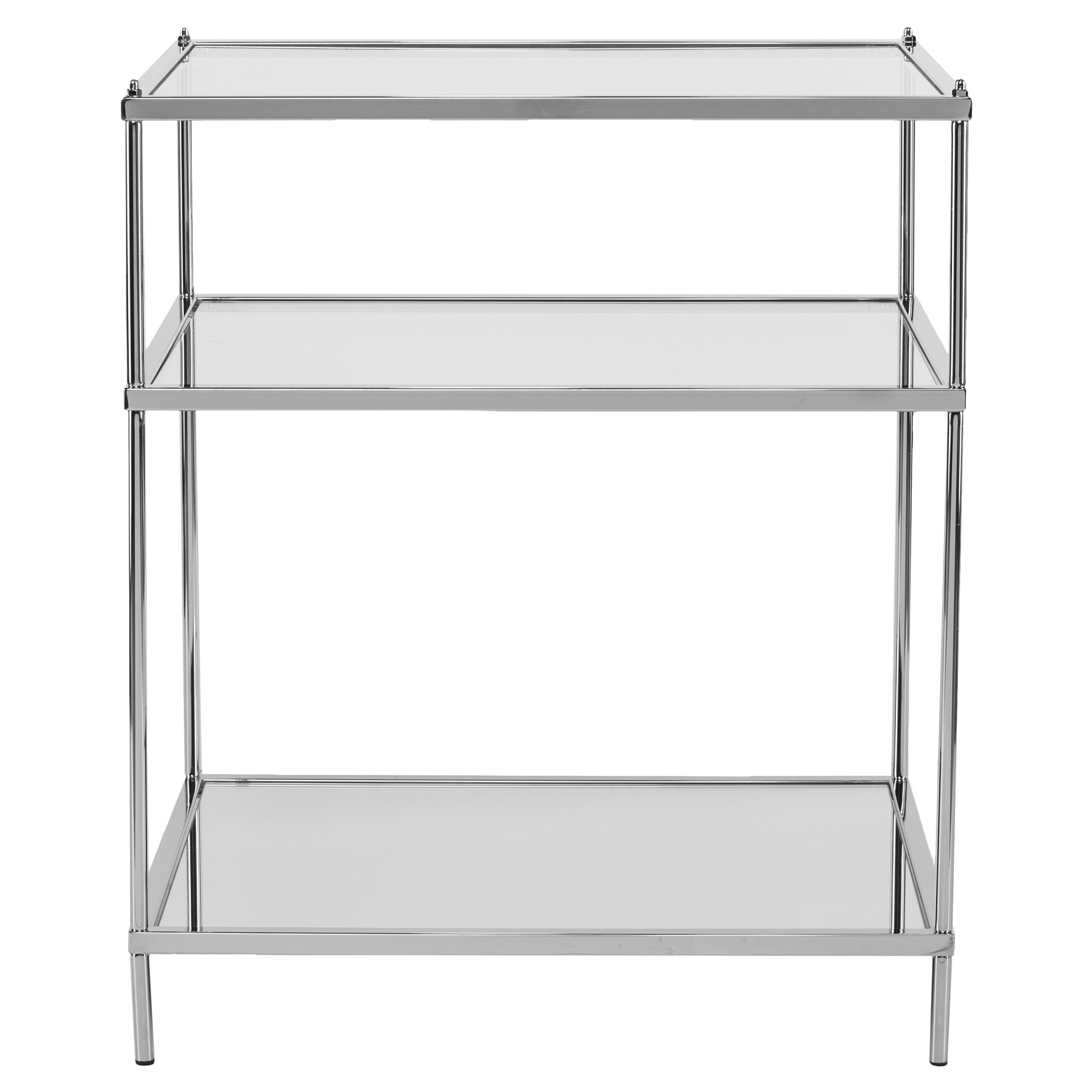 mirrored side table. Benton Glam Mirrored Side Table - Chrome Aiden Lane D