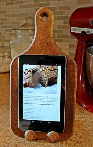 Remade Cutting Board Turned Tablet Stand Gift Ideas Pinterest