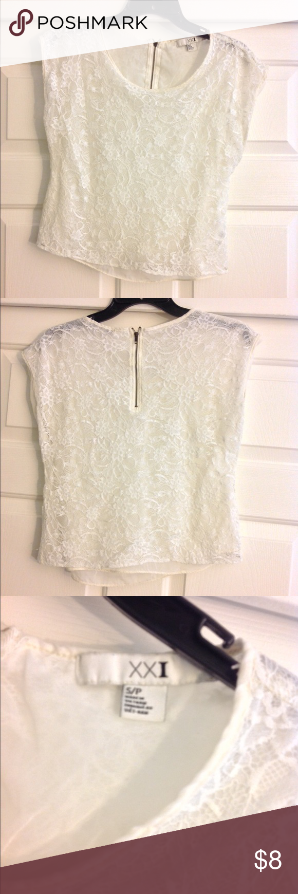 Lace Blouse Super cute and is easy to dress up or down. In good condition. Forever 21 Tops Blouses