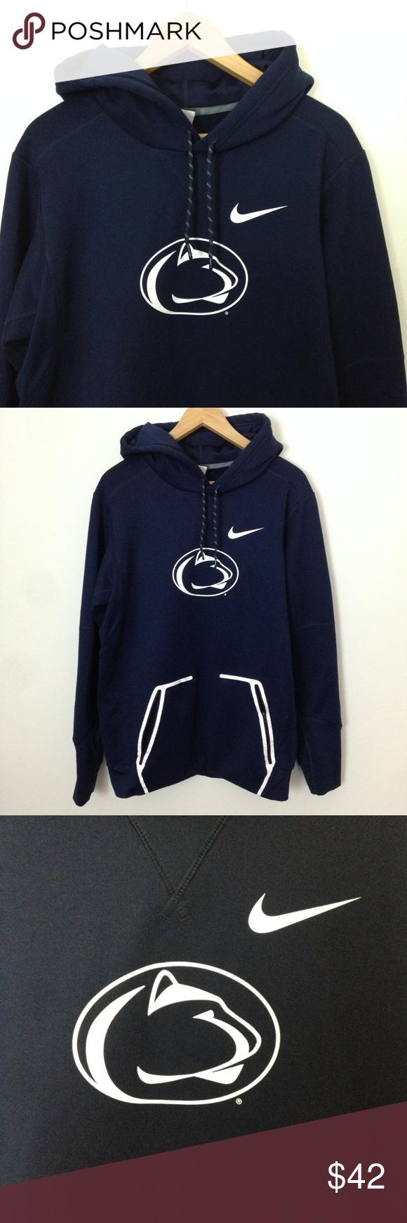 Nike Therma Fit Penn State University S Sweatshirt Sweatshirts Blue And White Hoodies Nike Brand [ 1740 x 580 Pixel ]