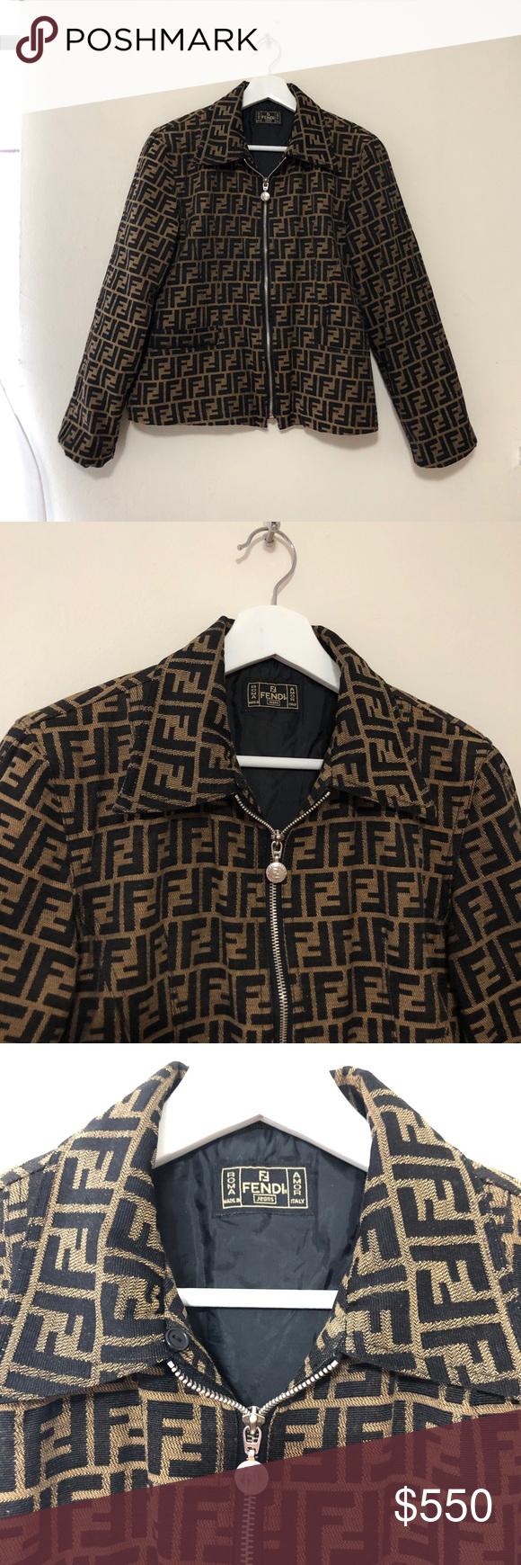 Vintage Fendi Zucca Monogram Jacket Monogram Jacket Clothes Design Jackets