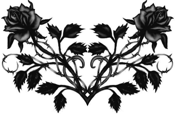 Rose And Thorns Tattoo Designs I Love Pinterest Black Roses Lower Back Tattoos Black Rose Tattoos Gothic Tattoo