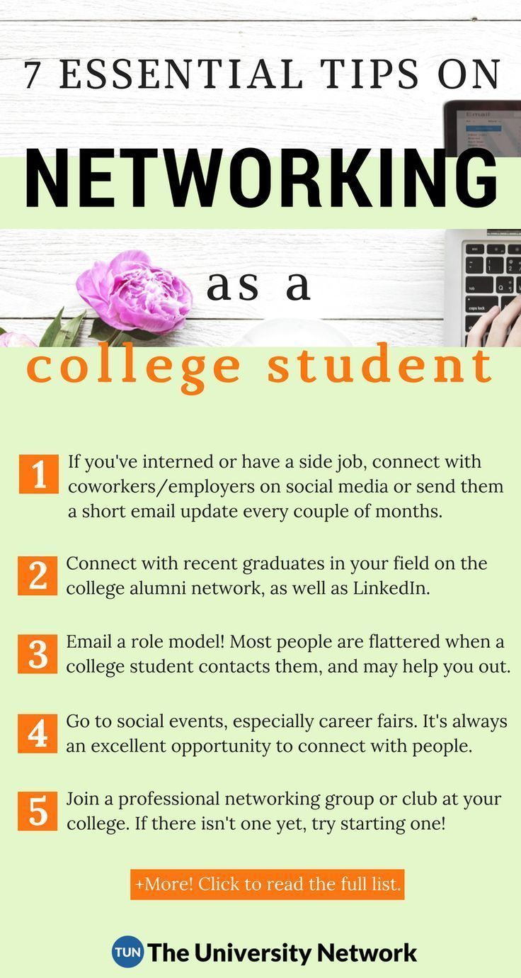 7 Tips to Build a Network While You're in College