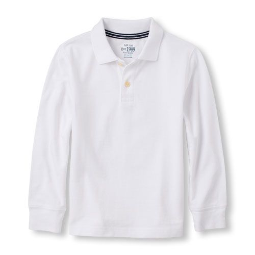 Brook X-Large//14 The Childrens Place Big Boys Long Sleeve Uniform Polo