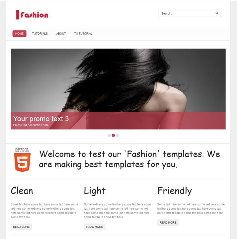 New HTML5 single page layout – Fashion | For Dummies HTML, XHTML ...