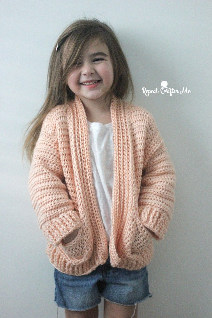 Caron Crochet Chill Time Child\'s Cardigan from Yarnspirations ...