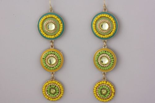 NEW Rio Circular Dangle Earrings www.TheConsignmentBag.com All items ship Worldwide. New items arrive Daily!