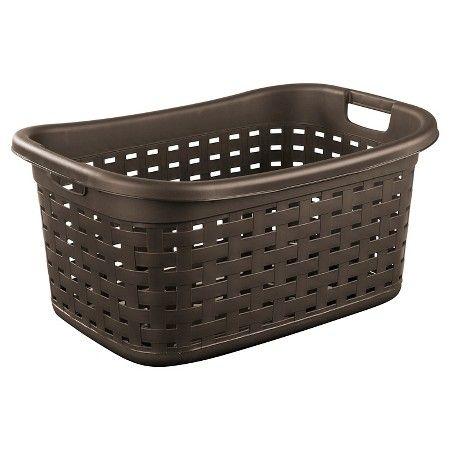 Laundry Bag Target Sterilite® Weave Laundry Basket  Espresso  Woven Laundry Basket