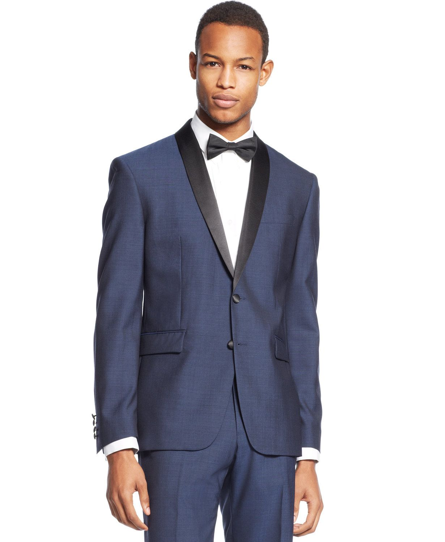 13bbee6e10f Bar III Slim-Fit Midnight Blue Shawl Collar Tuxedo Separates | macys.com