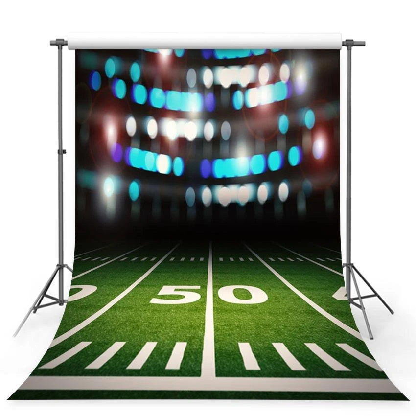 Football Field Bokeh Lights Stadium Photo Booth Backdrop G 372 Background For Photography Bokeh Lights Green Backdrops