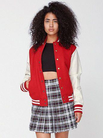 AmericanApparel Unisex Club Jacket with Leather Sleeves // @dressmeSue
