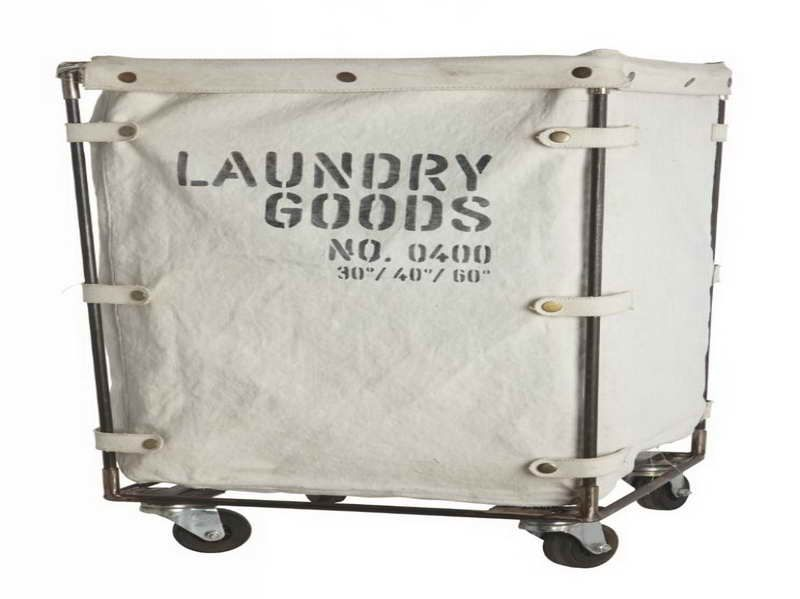 Beautiful Laundry Hamper With Wheels Part - 7: Laundry Hamper On Wheels With Laundry Goods No. 0400