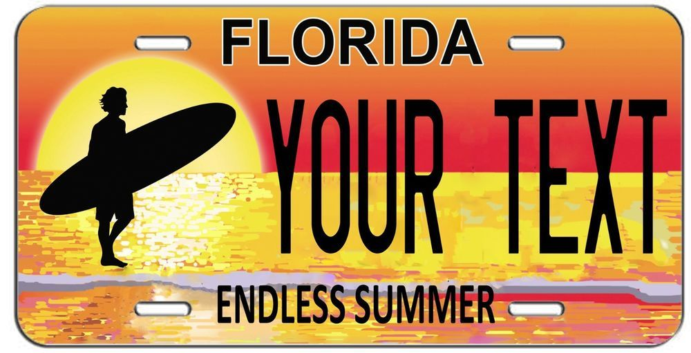 Florida Personalized License Plates >> Personalized Custom Florida Endless Summer Vanity License